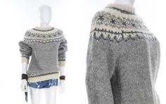 Vintage Wool Cowican Sweater Unisex Chucky Knit Handmade Sweater Size Medium