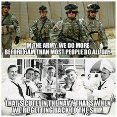 Army Vs Navy, Go Navy, Navy Military, Military Life, Military History, Navy Memes, Navy Humor, Military Jokes, Military Veterans