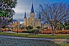 Saint Louis Cathedral, New Orleans French Quarters.