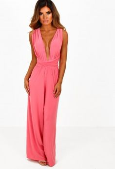 0bdf3351912 Body and Soul Coral Slinky Multiway Jumpsuit