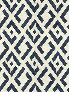 Diane von Furstenberg Fabric for Kravet - China Club - Indigo