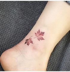 Autumn leaves tattoo
