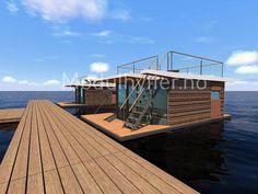 - Vi kan også tilby en rekke forskjellige husbåter, bygget både i inn og utland. - Modulhytter.no- Norges beste modulhytter Outdoor Furniture, Outdoor Decor, Cottages, Sun Lounger, Cabin, Park, Home Decor, Cabins, Chaise Longue