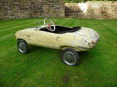 Rare 1960s Tri-ang E-Type Jaguar Pedal Car Barn Find | eBay