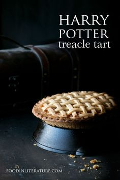With only 3 ingredients for the filling, it's super easy and quick to make this favorite Harry Potter recipe, treacle tart!