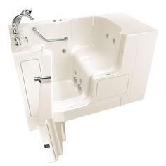 American Standard Gelcoat Value Series 4 3 Ft Walk In Whirlpool Bathtub With Outward Opening