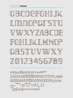 BAKANE FONT by Ernesto Serros, via Behance