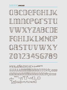 BAKANE FONT by Ernesto Serros - #typography #type