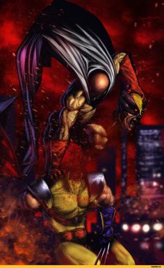 - One Punch Man - Saitama vs Wolverine if he wanted to be rutheless.this would be the scenario. Dc Anime, Anime One, Anime Comics, Me Me Me Anime, Anime Stuff, One Punch Man Anime, Saitama One Punch Man, Marvel Vs, Marvel Comics