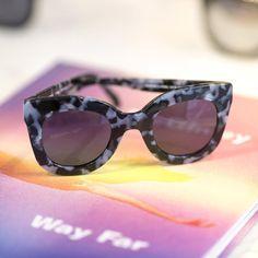 Crap Eyewear Lunettes de soleil l/'amour Tempo Noir Brillant//Gris Lentille