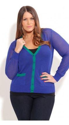 Plus Size Preppy Cardigan - City Chic - City Chic