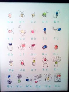 fingerprint alphabet more crafty stuff fingerprints teachers gift kids ...