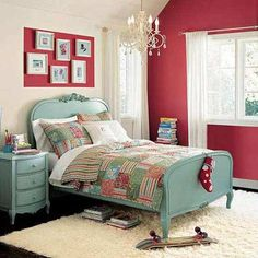 Paint brings a cohesive look to this bedroom.