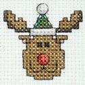 Christmas Rudolph christmas cross stitch Chart