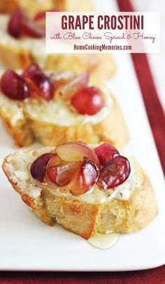 Grape Crostini with