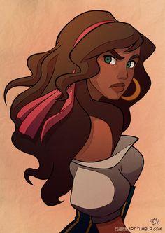 Esmeralda by Kaisel on DeviantArt Disney Pixar, Disney Amor, Arte Disney, Disney Girls, Disney And Dreamworks, Disney Animation, Disney Magic, Disney Princess Art, Disney Fan Art