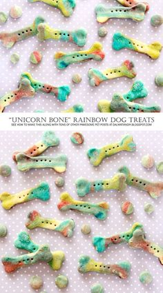 DIY Dog Treats | Homemade Unicorn Bone Rainbow Marbled Dog Treats