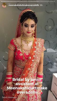 bridal jewelry for the radiant bride Indian Wedding Makeup, Indian Bridal Fashion, Indian Wedding Jewelry, Indian Bridal Wear, India Wedding, Indian Makeup, Bridal Jewellery, Bridal Makeup Looks, Bridal Looks