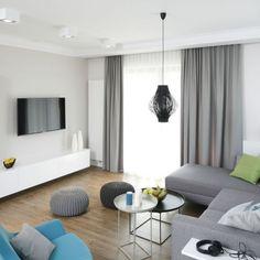 Znalezione obrazy dla zapytania biały salon Modern Curtains, Living Room Decor, Sweet Home, Layout, House, Room Ideas, Design, Interiors, Home Decor