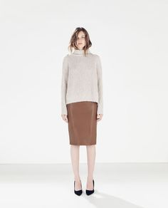 ZARA - WOMAN - FAUX LEATHER SKIRT