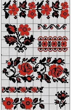 Gallery.ru / Фото #20 - схемы для вышиванок - zhivushaya