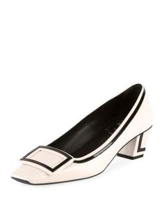 Belle Vivier Graphic 45mm Leather Pump by Roger Vivier at Neiman Marcus