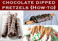 Making Chocolate Dipped Pretzels