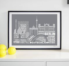 Berlin Skyline Typography Print