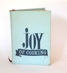 Vintage 1960's Joy of Cooking Cookbook Turquoise by cocoskitchen