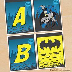 FREE Printable Batman Alphabet Banner Pack