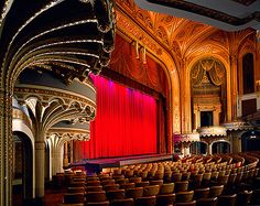 Orpheum Theatre, Los Angeles, California - designed by G. Albert Lansburgh in 1926 as the last house of the Orpheum vaudeville circuit in L.A. and extensively restored in 1989.  [2nd of two pins]