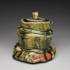 Artist: Shigemasa Higashida, Title: Oribe Water Jar # 6