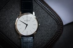 Jaeger-LeCoultre Master Ultra-Thin Jubilee, the thinnest mechanical watch in the world.