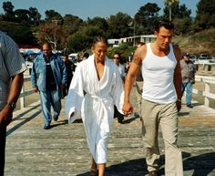 """Jennifer Lopez and Ben Affleck by Tony Duran on the set of """"Jenny from the Block"""" (October, 2002)"""