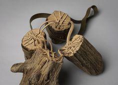 Kate Furman Necklace: Stumps, 2015 Wood, brass, suede 53.3 x 20.3 x 10.2 cm