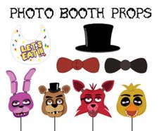 Five Nights at Freddy's Photo Booth Props Instant Download Prinatble