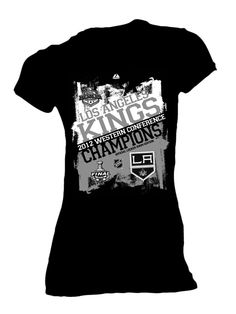 Los Angeles Kings Western Conference Champions Women's Locker Room T-shirt - Black
