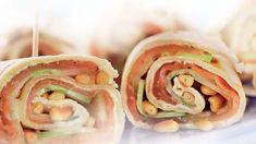 Wraps met gerookte zalm en komkommer • Simpele Recepten Wraps, Lunch Ideas, Rolls, Rap
