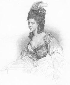 Duchess of Devonshire drawing after Sir Joshua Reynolds