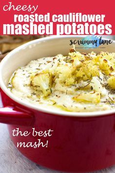 There are mashed potatoes and there are THESE cheesy roasted cauliflower mashed potatoes. With slightly nutty and sweet roasted cauliflower potato and cheese in them they're your new go-to mash recipe! Cauliflower Mashed Potatoes, Leftover Mashed Potatoes, Mashed Potato Recipes, Buffalo Cauliflower, Cheesy Potatoes, Cauliflower Recipes, Baked Potatoes, Side Dish Recipes, Veggie Recipes