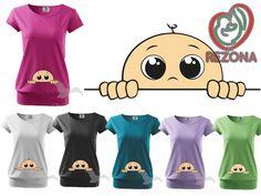 Peek A Boo Maternity T-Shirt Pregnancy tshirt  REZONA by Rezona