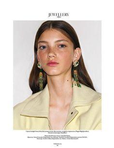 Vogue Ukraine November 2017 - Piaget earrings