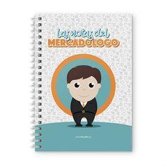 Cuaderno XL - Las notas del mercadólogo, encuentra este producto en nuestra tienda online y personalízalo con un nombre. Notebook, Scrapbook, Cover, Notebooks, Report Cards, Day Planners, Studio, Student, Scrapbooking