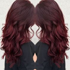 Ruby red hair!                                                                                                                                                     More