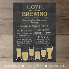 Love is Brewing Wedding Shower Engagement Party by greylein