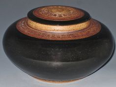 Pet Urn Black Handmade Stoneware Vase by earthtoartceramics, $58.00
