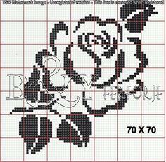 Haft Diy Paper Crafts diy useful paper crafts Tapestry Crochet Patterns, Crochet Stitches Patterns, Crochet Chart, Filet Crochet, Crochet Motif, Cross Stitch Rose, Cross Stitch Flowers, Cross Stitch Charts, Cross Stitch Designs