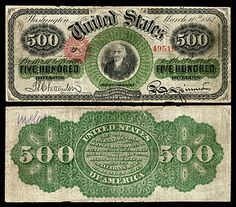 Large denominations of United States currency - Wikipedia Us Coins, Rare Coins, Money Notes, Dollar Money, Legal Tender, Coins For Sale, Old Money, World Coins, Coin Collecting
