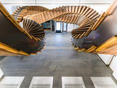 Installation Made from Historic Wood Escalators in Sydney – Fubiz Media