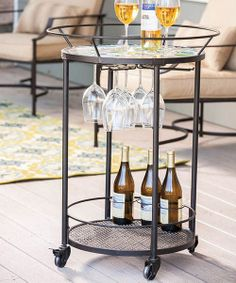Take a look at the Mosaic Flower Serving Cart on #zulily today!